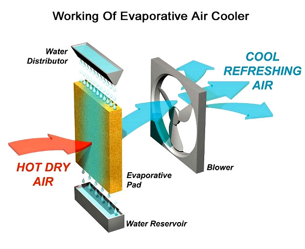 Working of Evaporative Cooler
